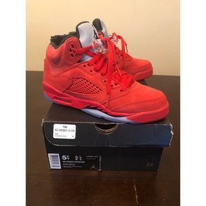 Air Jordan Retro 5, University Red/ Black, GS